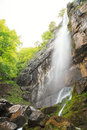 Pine Stone (Borov Kamak) waterfall in Balkan Mountains, Bulgaria Royalty Free Stock Photo