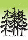 Pine tree illustration Stock Photos