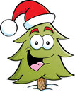 Pine Tree Santa Stock Photo