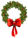 Pine wreath Royalty Free Stock Image