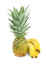 Pineapple and bananas Royalty Free Stock Photo