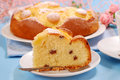 Pineapple cake with raisins Royalty Free Stock Photo