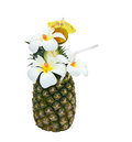 Pineapple cocktail Royalty Free Stock Photo
