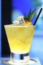 Pineapple cocktail Stock Photo