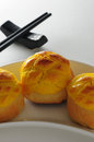 Pineapple custard buttered bun chinese Stock Image