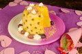 Pineapple dessert sweet pinapple served for a kid party Royalty Free Stock Image