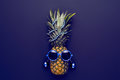 Pineapple Fashion Hipster Party Mood. Art Gallery Royalty Free Stock Photo