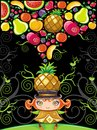 Pineapple girl (fruity series) Royalty Free Stock Photos