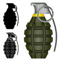 Pineapple hand grenade explosive Royalty Free Stock Photos