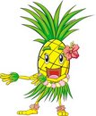 Pineapple Hula Dance Royalty Free Stock Photos