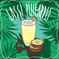 Pineapple Indian drink Lassi with fresh juice