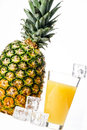 Pineapple juice Royalty Free Stock Photography