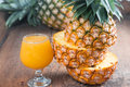 Pineapple with juice