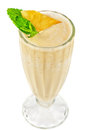 Pineapple milk cocktail Royalty Free Stock Photo