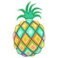 Pineapple Pastel Colors Royalty Free Stock Photo