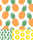 Pineapple pattern vector illustration eps Royalty Free Stock Images