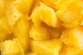 Pineapple salat close vegetarian tasty yellow food Stock Photo