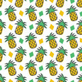 Pineapple seamless pattern background