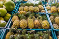 Pineapple for sell in supermarket Stock Photography