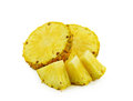 Pineapple slices isolated on white background Royalty Free Stock Photo