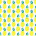 Pineapple vector background seamless pattern textile pattern repeating summer colorful Royalty Free Stock Images