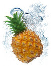 Pineapple in water Royalty Free Stock Image