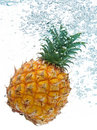 Pineapple in water Stock Images