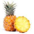 Pineapple on white Royalty Free Stock Photo