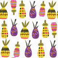 Pineapples fantasy seamless pattern. It is located in swatch menu, image. Cute tile background for design. Abstract tropic