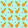 Pineapples seamless pattern Royalty Free Stock Photo