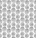 Pinecone black and white seamless pattern isolated on white Royalty Free Stock Photo