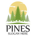Pines template logo Royalty Free Stock Photo