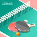 Ping Pong Isometric Background Royalty Free Stock Photo