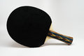 Ping pong paddle with the black side facing the camera colorful grip Royalty Free Stock Photography