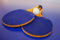 Ping pong set Stock Photos