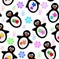 Pinguinmuster Stockbild
