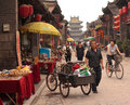 Pingyao street scene Royalty Free Stock Photo