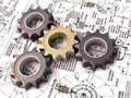 Pinion gear Royalty Free Stock Image