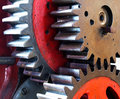 Pinion gear of mechanical machine Royalty Free Stock Photo