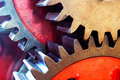 The Pinion gear for mechanical machine in factory Royalty Free Stock Photo