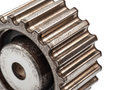 Pinion gear on a white background Royalty Free Stock Image