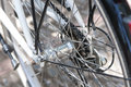 Pinion of the rear wheel bicycle Royalty Free Stock Photos