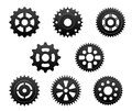 Pinions and gears set for any industrial design Stock Photography