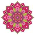 Pink abstract mandala.