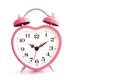 Pink alarm clock Royalty Free Stock Images