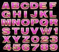 Pink alphabet whith gold Royalty Free Stock Image