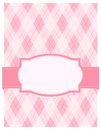 Pink argyle background card Stock Images