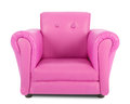 Pink armchair isolated on white background Royalty Free Stock Images