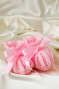 Pink Baby Booties Royalty Free Stock Photo