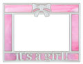 Pink Baby Girl Picture Frame Royalty Free Stock Photo